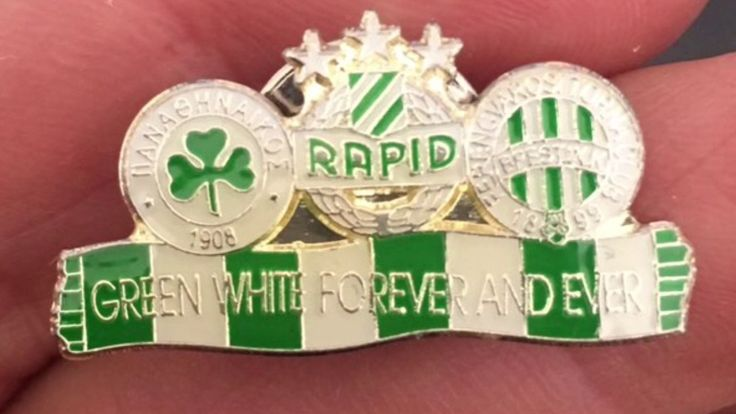 Ferencvarosi TC / Fradi /FTC supporter / ultras pins and the original legendary Ferencvarosi B-kozep pin.