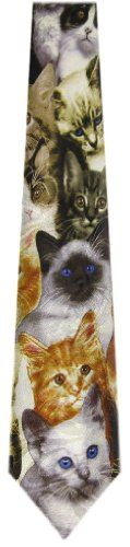 1 item left! Cat's faces neck tie #necktie #cats #menswear #suit #tie #cute #kittens $17 @Kitty Purring