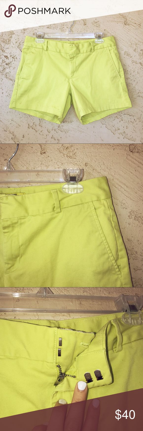 "banana republic milky collection neon green shorts these are banana republic ""milly collection"" neon green shorts. they have a double snap at the top. the color is gorgeous and will make any outfit just pop! they are in fabulous condition, look like new!  i do not trade, but feel free to make me an offer using the offer button 😊 Banana Republic Shorts"