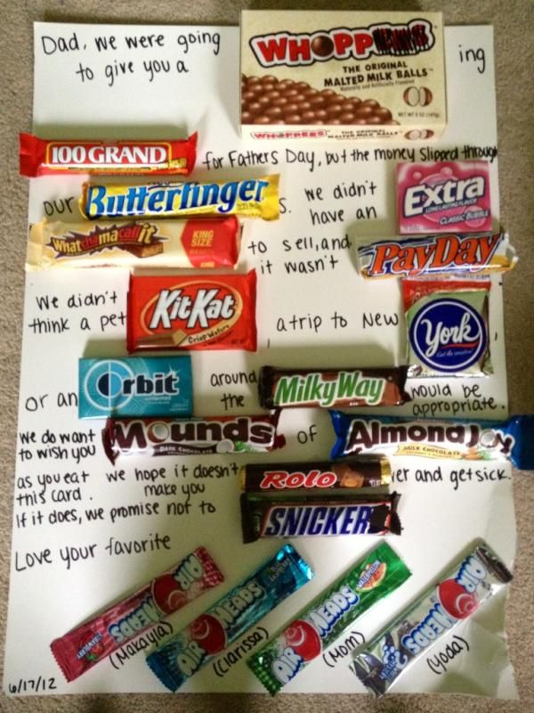 my best friend's amazing father's day gift:) I'm going to reword this for friends :)
