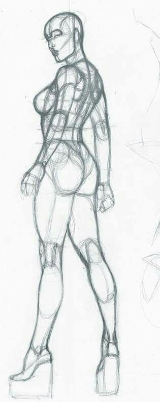 The side profile stance. Perfect angle to practice drawing the body. Rare to see this particular shot being drawn.