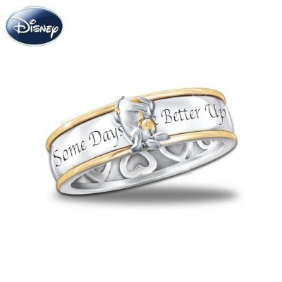 Some Days Look Better Upside Down Eeyore Spinning Ring