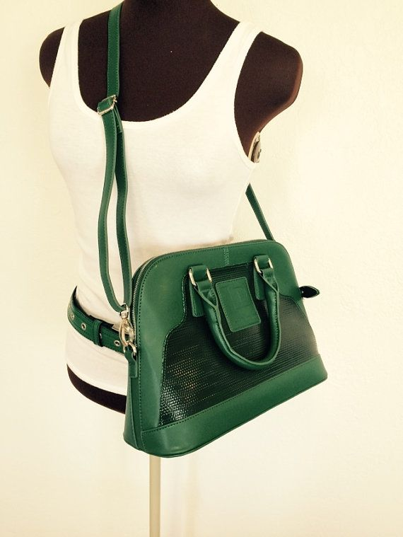 Upcycled black layflat hose with green leather by landfilldzine. Explore more products on http://landfilldzine.etsy.com
