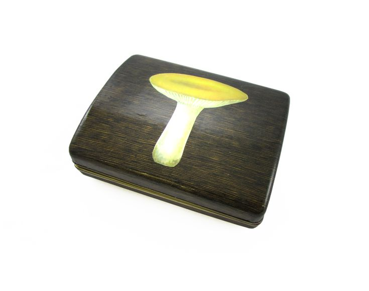 Yellow+Shroom+Up-cycled+Vintage+Jewelry+Box, £50.00