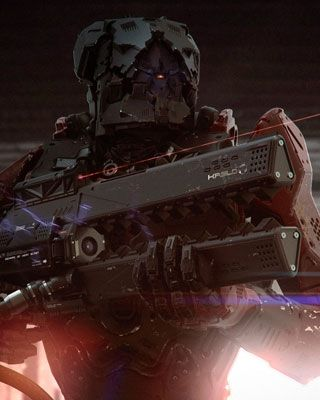 Stunning Sci-Fi Military Robot Art - Deployment Order Launched
