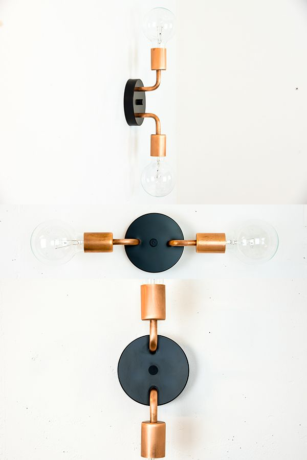 Copper Wall Sconce Black Wall Light Vanity Lighting Etsy Black Wall Lights Copper Wall Sconce Wall Sconces
