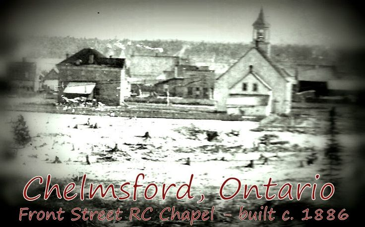 the History of Chelmsford Ontario Canada -