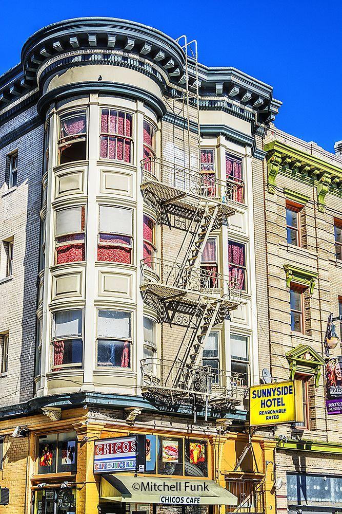 Victorian Building In The Tenderloin,San Francisco http://www.mitchellfunk.com