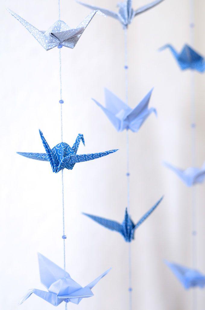 Maryandpatch, origami cranes hanging, DIY