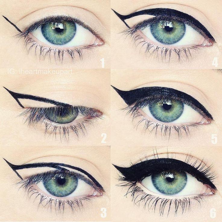 Best 25+ Easy cat eye ideas on Pinterest | Perfect cat eyeliner ...