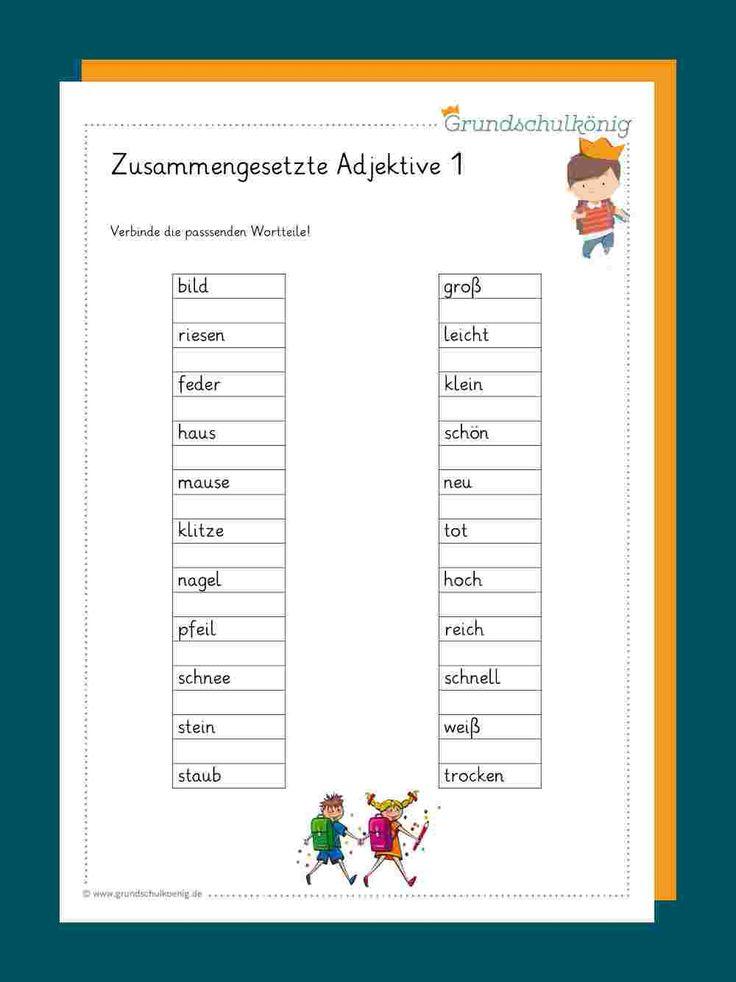 Adjektive/ Wiewörter | Adjektive, Adjektive grundschule
