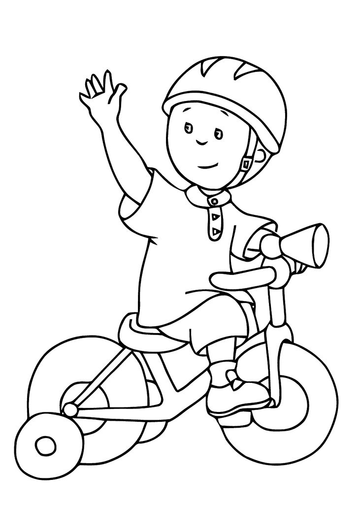 caillou coloring pages for kids printable free  kinder
