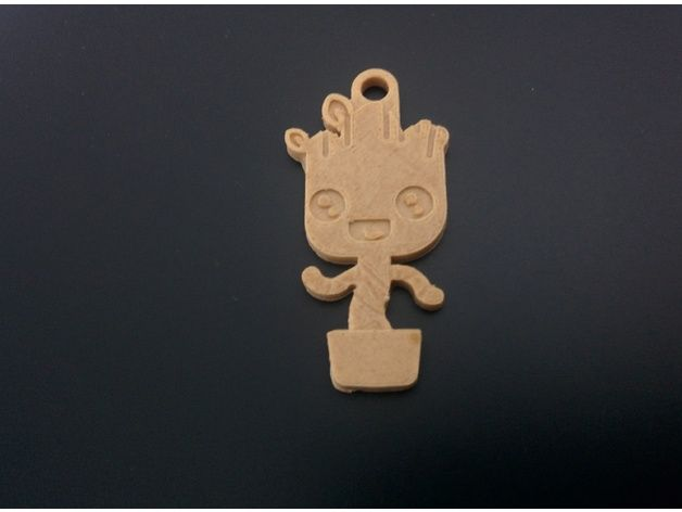 Baby groot keychain without external ring. Model remixed from Baby Groot Keychain by CreAdamus Source: https://www.thingiverse.com/thing:2309451