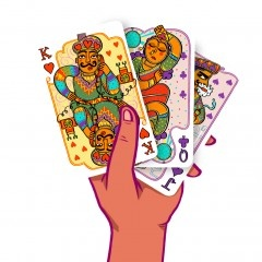 Mad Madhubani Playing Cards