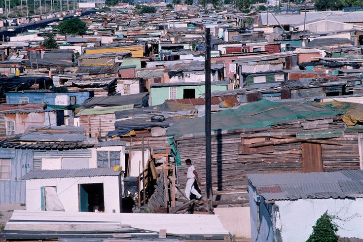 A. Abbas. South Africa. Cape Town. Slums in Khayelitsha township. 1999.