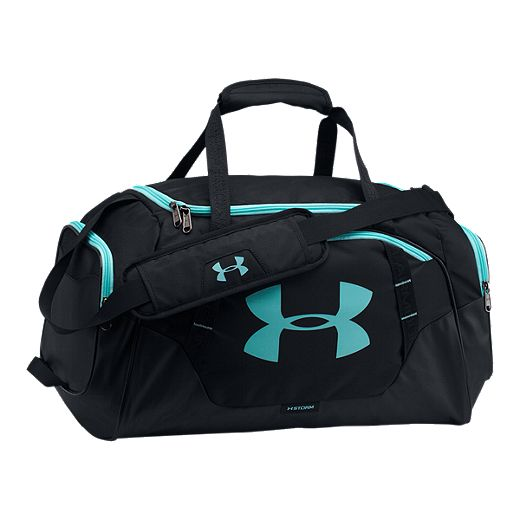 Under Armour Undeniable 3.0 Small Duffel Bag - BLACK/BLACK/BLUE INFINITY