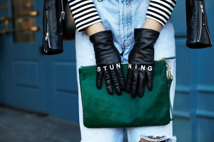 Next-Level Outfits From Yours Truly #refinery29  http://www.refinery29.com/editor-fashion-week-outfits#slide19