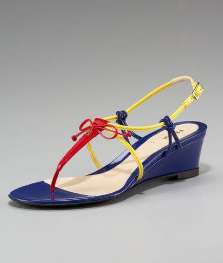 Fendi Dress Shoes Sandals FF  Blue Red Yellow Bag  #FENDI #Sandals
