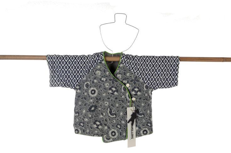 Babykimono in authentic Japanese kimono fabric, classic and contemporary style.