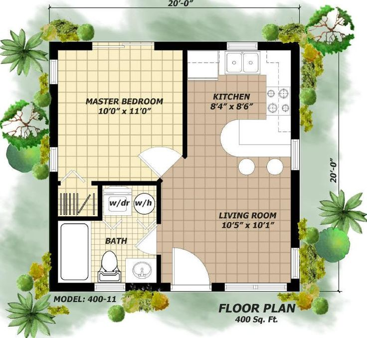 26 Best 400 Sq Ft Floorplan Images On Pinterest | Apartment Floor