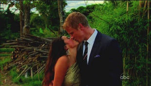 Sean Lowe Kisses Catherine Giudici After Proposing in The Bachelor Season 17 Finale