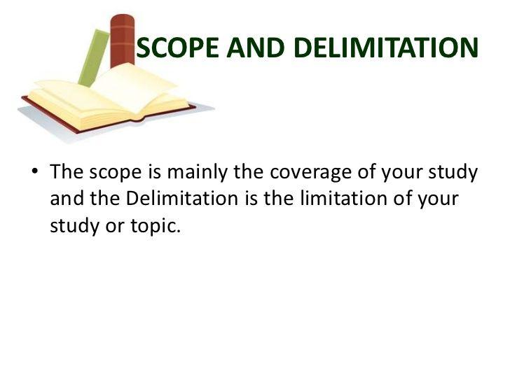 Define scope of a dissertation