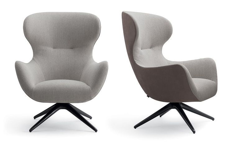 The Mad collection is completed by the addition of a new 'character': an armchair with a tall, enveloping backrest, which conveys a comfortable, reassuring sensation. A much smaller size than the usual ear typology, this chair wonderfully fits multiple spaces of various dimensions, while still being very comfortable, enveloping the user and providing privacy.