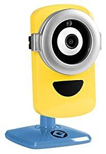 """Despicable Me 3 - Minion Cam Hd Wi-Fi Camera Minion Translator  Surveillance Camera, Yellow/Blue (MinionCam)  Have a Minion watch over your treasures with the app-enabled Minion Cam Wi-Fi HD Camera for home monitoring. Sound like a Minion with Minion Translator, two-way audio and fun & random Minion sound effects like """"hey boss"""" Get a music video of your pet's day with Pet Highlight Reel Free Lifetime 1-Day cloud storage Use Bluetooth on your mobile device for easy setup"""