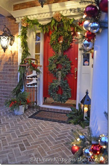 619 Best Images About Christmas Entry Swags Wreaths On