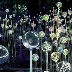 The British artist Bruce Munro has created a new and unique art installation for Pennsylvania's Longwood gardens.