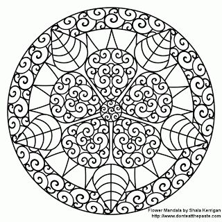 dont eat the paste mandalas coloring pages - Large Coloring Pages