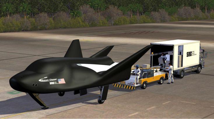 Sierra Nevada Corporation's Dream Chaser Cargo Spacecraft on Runway (Image: SNC)