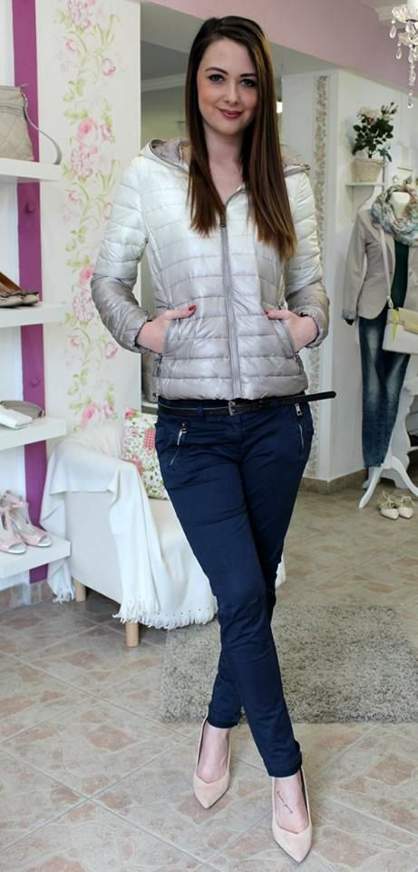 Beige spring coat