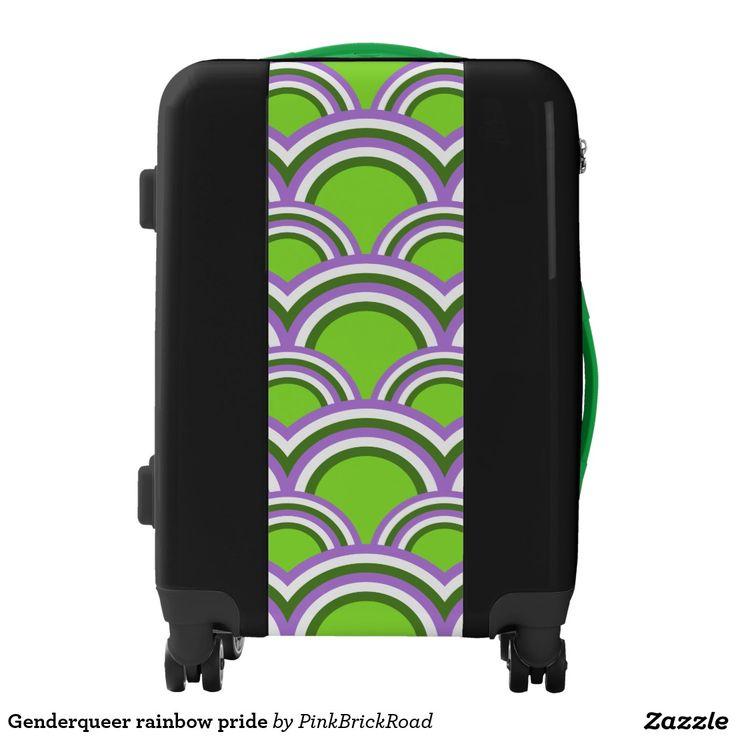 Genderqueer rainbow pride luggage