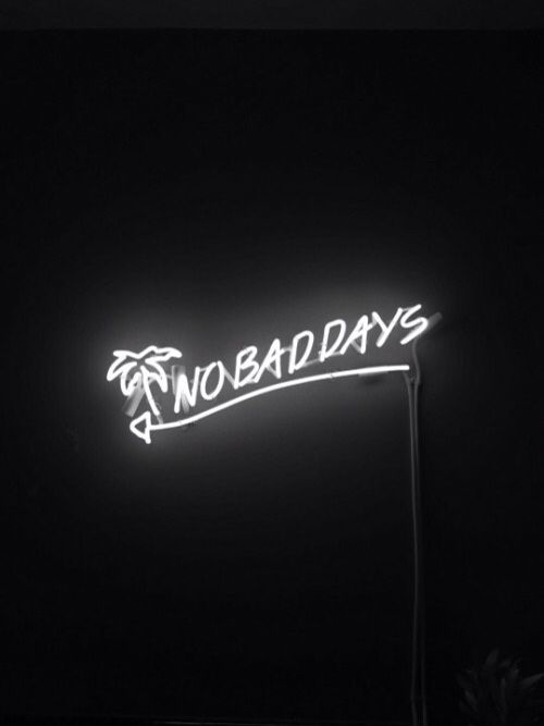 No Bad Days | Palm Tree | Neon Light | Quote Lights | Inspirational Quotes | Quote