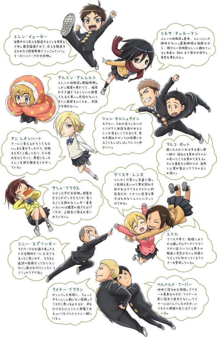キャラクター   TVアニメ「進撃!巨人中学校」公式サイト