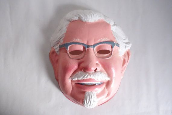 The Real COLONEL SANDERS Mask Vintage Vacuform by EmporioX on Etsy