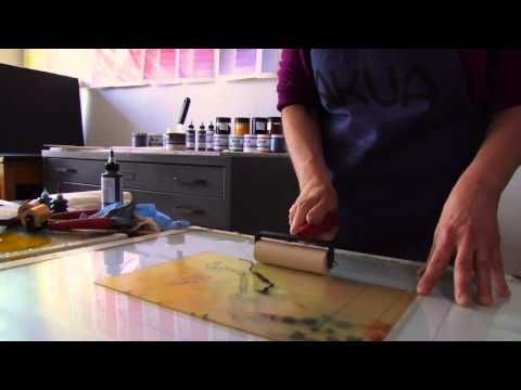▶ Hand-Pulled Monotype Printing with Akua Inks and Pin Press - YouTube