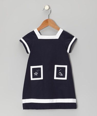 Take a look at this Navy Blue Seaside Dress - Infant & Toddler by P'tite Môm on #zulily today!