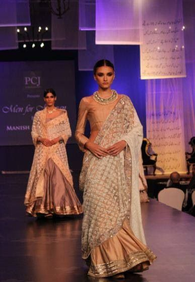 Lace sari Manish Malhotra 2014