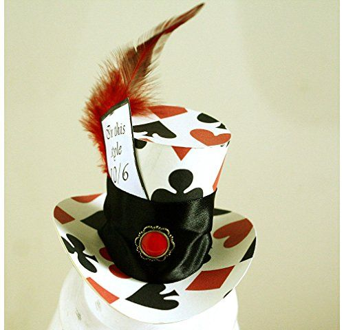 Mad Hatter Trump Top Hat Birthday Tea Party Favor Alice in Wonderland Decoration Prop Cake Topper @ niftywarehouse.com