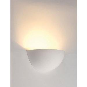 Gips-Wandleuchte GL 101 E14 weiß: Amazon.de: Beleuchtung
