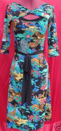 LEONA-EDMISTON-RUBY-multi-colour-jungle-print-dress-size-XXS-AS-NEW-condition