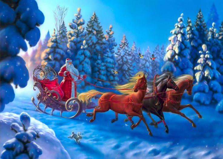 Eldar Zakirov. Сообщество иллюстраторов   Иллюстрация Новогодняя тройка.