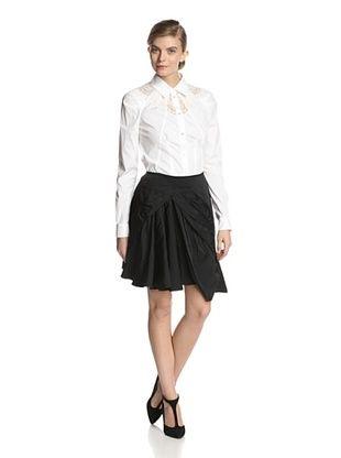-23,800% OFF Nina Ricci Women's Radzimir Drape Front Skirt (Black)