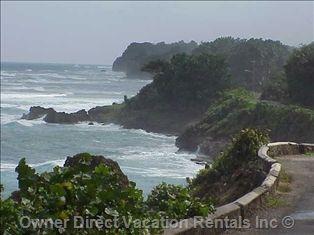 Walk along the Sea Wall in Ocho Rios, Jamaica
