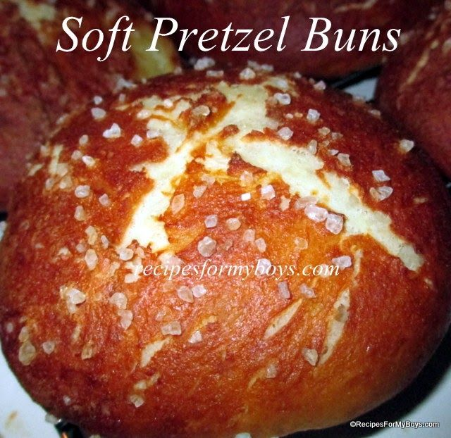 Soft Pretzel Buns Recipes For My Boys ZipList:  http://recipesformyboys.ziplist.com/recipes/1744591-Soft_Pretzel_Buns?return_to=%2Frecipes%2Fbox