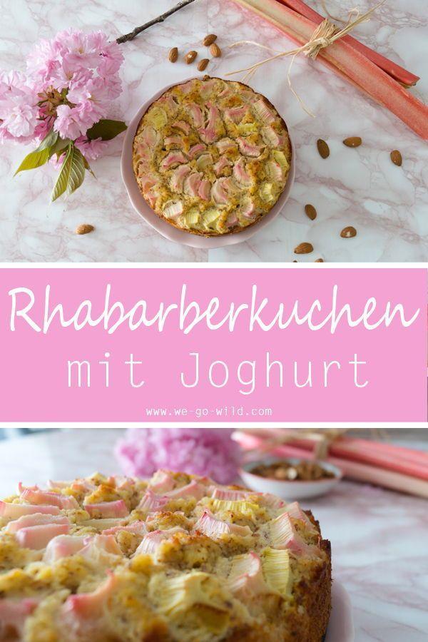Low Carb Rhubarb Cake Rhabarberkuchen Rhabarber Kokosmehl