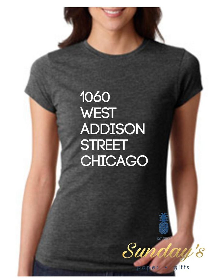 Chicago Cubs Wrigley Field Address shirt - sizes XS-3XL by SundaySouthern on Etsy https://www.etsy.com/listing/398868659/chicago-cubs-wrigley-field-address-shirt -- 2016 World Series Chicago Cubs shirt