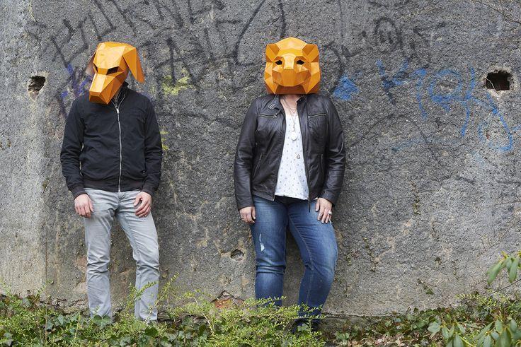 masken, orange, shooting, werbeagentur [raster]fabrik gmbh, mauer, hund, löwe, park, siegen, schloss